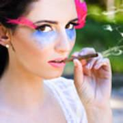 Smoking Glamour Art Print