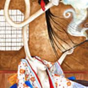 Smoking Siren Art Print