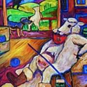Smoko At The Sheep Shearing Shed Art Print