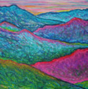 Smoky Mountain Abstract Art Print