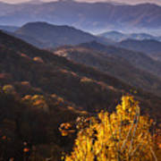 Smoky Mountain Hillsides At Autumn Art Print