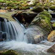 Flowing Stream #3, Smoky Mountains, Tennessee Art Print