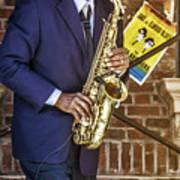 Smooth Sax Man Art Print