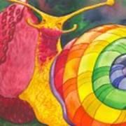 Snail Nirvana Art Print
