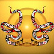 Snakes Homage To Mata Ortiz Art Print