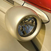 Snazzy Headlamp On Antique Car Art Print