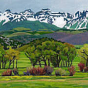 Sneffels Range Spring Acrylic Art Print