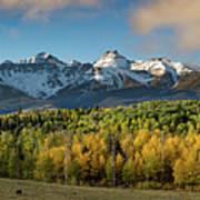 Sneffls Range Panorama From County Road 5  Art Print