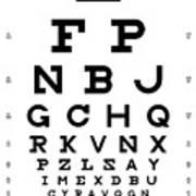 Snellen Chart - Full Alphabet Art Print