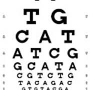Snellen Chart - Genetic Sequence Art Print