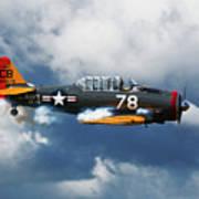 Snj-5  Texan T-6  Smoke On Art Print