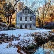 Snow Along Creek Art Print