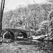 Snow Along The Wissahickon Creek Art Print by Bill Cannon