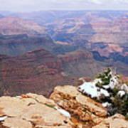Snow And Canyon - Grand Canyon Art Print