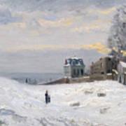 Snow At Montmartre Art Print