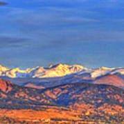 Snow-capped Panorama Of The Rockies Art Print