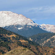 Snow Capped Pikes Peak Colorado Art Print