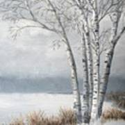 Snow Coming Into The South Shore  Art Print