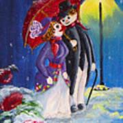 Snow Couple Art Print
