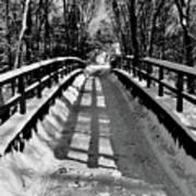 Snow Covered Bridge Art Print by Daniel Carvalho