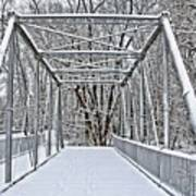 Snow Covered Pony Bridge Art Print