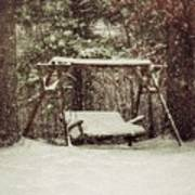 Snow Covered Swing Art Print