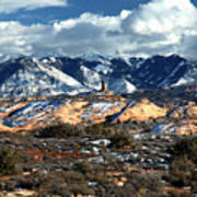 Snow Covered Utah Mountain Range Art Print
