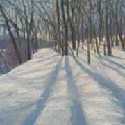 Snow Day At Winnekini Art Print