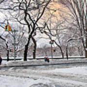Snow Day On 5th Avenue Art Print