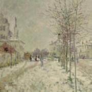Snow Effect Art Print by Claude Monet