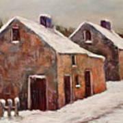 Snow Fall In Ireland Art Print