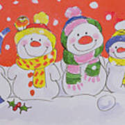 Snow Family Art Print