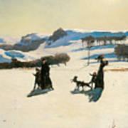 Snow Fields Art Print