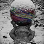 Snow Frog Art Print