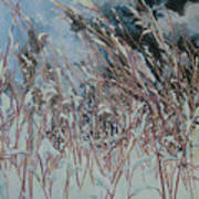 Snow Grass Happiness Art Print