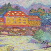 Snow Grove Park Inn Art Print