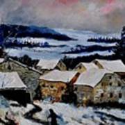 Snow In Ardennes 79 Art Print