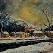 Snow In Bohan Art Print