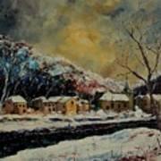 Snow In Bohan Art Print