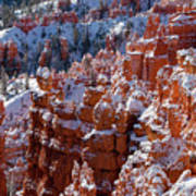 Snow In Bryce Canyon Art Print
