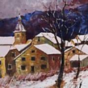 Snow In Chassepierre  Art Print