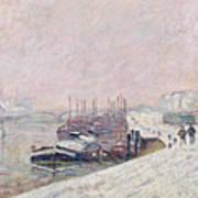 Snow In Rouen Art Print