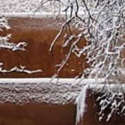 Snow In Santa Fe New Mexico Art Print
