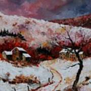 Snow In The Ardennes 78 Print by Pol Ledent