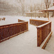 Snow In The Park 3d Art Print