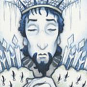 Snow King Slumbers Art Print