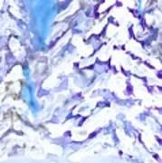 Snow Laden Trees Art Print