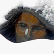 Snow Lady  Art Print