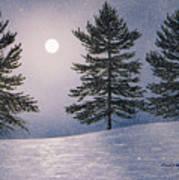 Snow Light Art Print