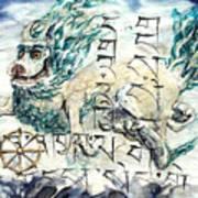 Snow Lion Art Print